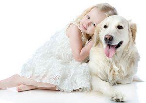 chien avec enfant
